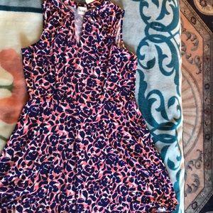 Leota print jersey dress